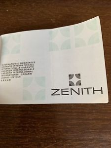 腕時計 ウォッチ ultra rare zenith international guarantee booklet