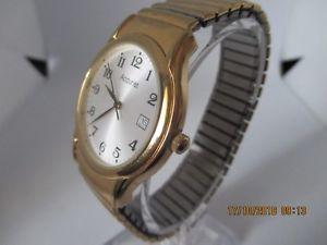 腕時計 ウォッチ クォーツアラームカラーゴールドマンaccurist para hombre de cuarzo batera fecha reloj de color oro