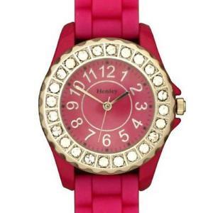 腕時計 ウォッチ グラマーマゼンタスポーツウォッチhenley glamour bling magenta mujer reloj deportivo h08265