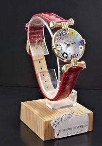 腕時計 ウォッチ オロロジオディムラノウォッチorologio  donna dorato watch in vetro di murano murrina millefiori