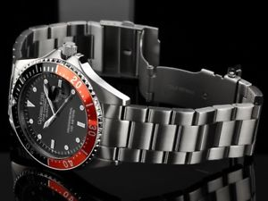 腕時計 ウォッチ ダイブキャリアブラックレッドプロダイバーウォッチ