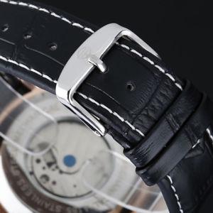 腕時計 ウォッチ ステンレススチールアラームforsining reloj automatico reloj para hombre reloj de cuarzo de acero inoxi b4x2