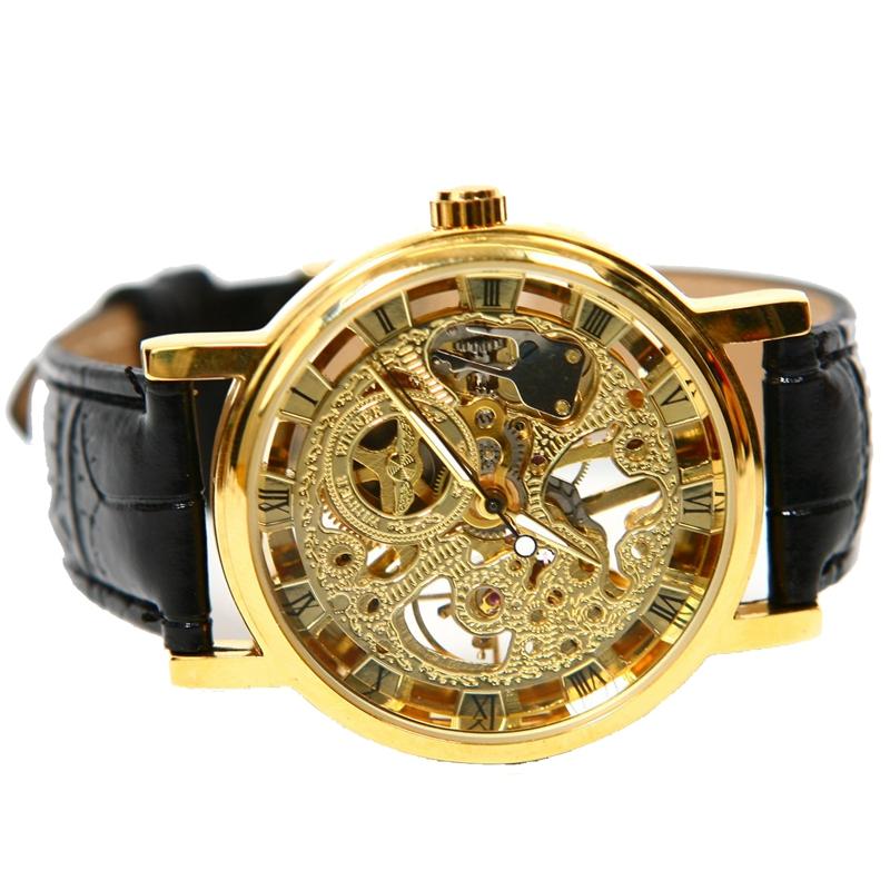 腕時計 ウォッチ クロックnuevo anuncio3xwinner hombres reloj de esfera tallada hueca magnifico ultradelgado w3n3