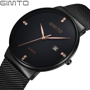 【送料無料】腕時計 ウォッチ ファッションビジネスカジュアルスポーツアナログクォーツブラックウォッチ