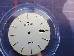 【送料無料】腕時計 ウォッチ アラームreloj junghans cuarzo, cuadrante fecha reloj, usado parte