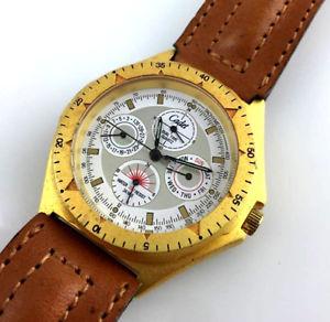 【送料無料】腕時計 ウォッチ デュアルタイムヴィンテージcadet chronostar watch day date quartz orologio dual time vintage nos