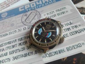 【送料無料】腕時計 ウォッチ ロシアヴォストーククロックロシアヴォストークウォッチreloj ruso vostok  russian vostok  watch