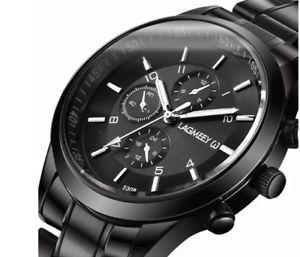 【送料無料】腕時計 ウォッチ reloj pulsera para hombre negro durable 10day entrega