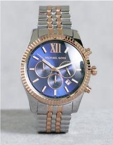 【送料無料】腕時計 ウォッチ レキシントンミハエルクロノグラフアラームnuevo genuino esfera azul lexington michael kors mk8412 crongrafo reloj de hombre