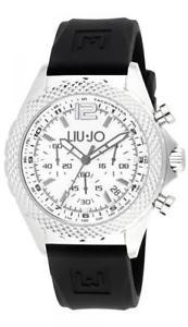【送料無料】腕時計 ウォッチ アラームリュジョダービーブラックシリコンシルバークロノreloj hombre liu jo luxury derby tlj830 chrono silicona negro silver