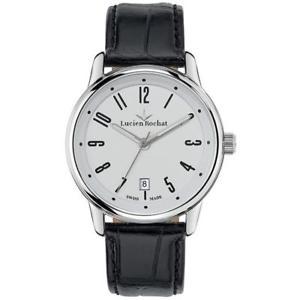 腕時計 ウォッチ クロックレザーブランreloj de hombre lucien rochat geste r0451107002 cuero negro blanc