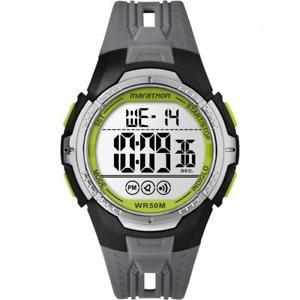 【送料無料】腕時計 ウォッチ マラソンシリコンクロノアラームorologio uomo timex marathon tw5m06700 silicone grigio digitale chrono alarm
