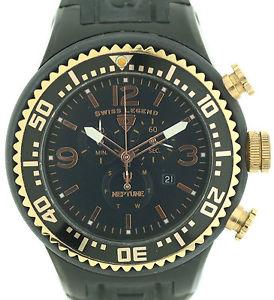 【送料無料】腕時計 ウォッチ スイスネプチューンクロノグラフゴールドボックスswiss legend neptune gigante seores chronograph 52mm negro oro box papel