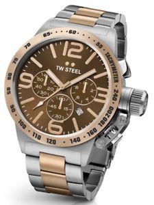 【送料無料】腕時計 ウォッチ スチールトーンアラームtw steel cb154 reloj de hombre de dos tonos 50 mm cantina 2 aos de garanta