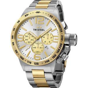 【送料無料】腕時計 ウォッチ スチールトーンクロックtw acero cb33 hombre reloj de cantimplora 45 mm de dos tonos 2 aos de garanta
