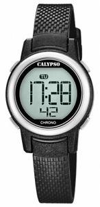 【送料無料】腕時計 ウォッチ カリプソブラックシャットデジタルクォーツダウンライトアラームcalypso kinderuhr cuarzo digital negro con funcin de parada alarma k57363 luz