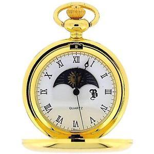 【送料無料】腕時計 ウォッチ サンムーンフェイズフィールドチェーンboxx color dorado sol y luna fase esfera reloj de bolsillo 305cm cadena boxx192