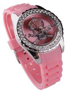 【送料無料】腕時計 ウォッチ クリスタルピンクスカルファッションreloj de moda para mujeres rosa de cristal crneo
