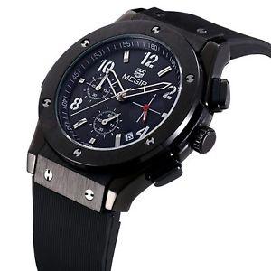 【送料無料】腕時計 ウォッチ シリコンmegir 3002 quartz watch orologio horloge reloj uhr bkbkbk silicone