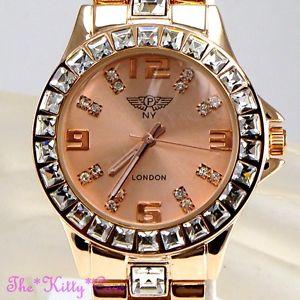 腕時計 ウォッチ レディースローズゴールドクリスタルスクエアプリンセスドレスアラームseoras oro rosa plateado princesa tallado cuadrado cristal bling declaracin vestido reloj