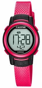 【送料無料】腕時計 ウォッチ カリプソアラームストップライトデジタルピンククォーツcalypso kinderuhr reloj de cuarzo rosa digital con funcin de parada alarma k57365 luz