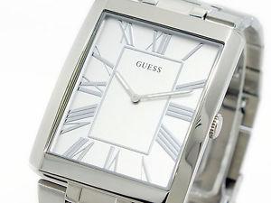 腕時計 ウォッチ スリムステンレススチールシルバーベルトguess w85032g1 slim reloj de hombre correa acero inoxidable plata
