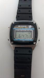 【送料無料】腕時計 ウォッチ ビンテージデジタルダイバースキューバrare vintage sanyo digital watch 200m diver scuba