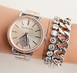 【送料無料】腕時計 ウォッチ クロックカラーシルバーoriginal michael kors reloj mujer mk3660 jaryn bicolor color plata rosegol
