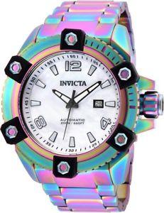 【送料無料】腕時計 ウォッチ ブックアラームステンレスnuevo anuncioinvicta hombres reserve automtico 200m iridiscente reloj acero inoxidable 26484