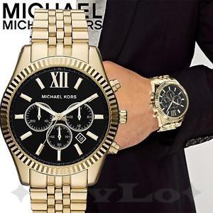 【送料無料】腕時計 ウォッチ オリジナルレキシントンマンカラーゴールドブラックoriginal michael kors reloj de hombre mk8286 lexington color oro negro nuevo