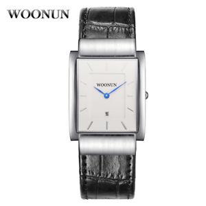 【送料無料】腕時計 ウォッチ クォーツウォッチrectangular watch for men classic luxury waterproof quartz thin blue hands