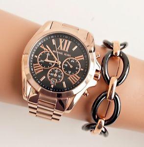 【送料無料】腕時計 ウォッチ クロックピンクシュワーoriginal michael kors reloj mujer mk5854 bradshaw xl color rosa dorado schwa