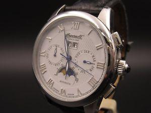 腕時計 ウォッチ クロノグラフl853  de lujo ingersoll in8402 chronograph automatic 45mm fase lunar