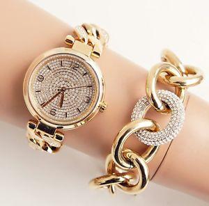 【送料無料】腕時計 ウォッチ エリーカラーゴールドガラスoriginal michael kors reloj mujer mk3634 ellie color oro cristal nuevo