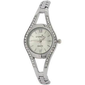 【送料無料】腕時計 ウォッチ カールガラスシルバーeternity mujer cristal engarzado plateado reloj de pulsera et80c