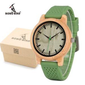 【送料無料】腕時計 ウォッチ ボボメンズファッションソフトシリコンストラップクォーツbobo bird mens fashion bamboo wood watches with soft silicone straps quartz