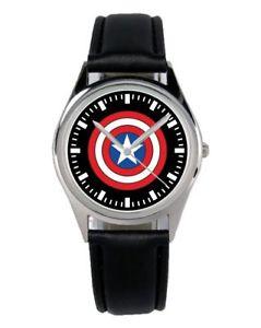 【送料無料】腕時計 ウォッチ キャプテンアメリカファンアクセサリーマーケティングアラームcapitn amrica regalo fan artculo accesorios mercadotecnia reloj b1663