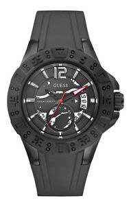 【送料無料】腕時計 ウォッチ マグナムブラックシリコンブレスレットguess w0034g3 reloj de hombre magnum flexible pulsera silicn negro