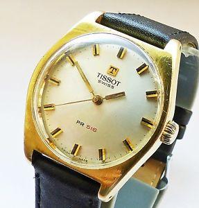 【送料無料】腕時計 ウォッチ ティソゴールドtissot pr516 gold reloj pulsera caballero 1972