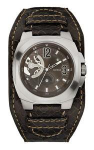 【送料無料】腕時計 ウォッチ マンクロックブラウンレザーベルトguess w12601g2 phandemonium reloj de hombre correa cuero marrn