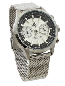 【送料無料】腕時計 ウォッチ クロノイタリアヌオーヴォmom orologio chrono acciaio impermeabile watch man made in italy nuovo