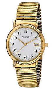 【送料無料】腕時計 ウォッチ ゴールドマンステンレススチールアラームaccurist mb966wa acero inoxidable chapado en oro reloj para hombre