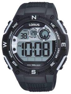 【送料無料】腕時計 ウォッチ デジタルクロノグラフlorus para hombres digital reloj con crongrafo negro resistente al agua fecha r2307lx9