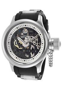 【送料無料】腕時計 ウォッチ ロシアブラックポリウレタンダイビングスケルトンinvicta ruso buceo negro esfera esqueleto poliuretano reloj de hombre 17263