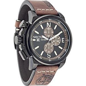 【送料無料】腕時計 ウォッチ セクタークロッククロノブラックレザーブラウンサブメートルreloj de hombre sector 450 r3271776007 chrono cuero brown negro sub 100mt
