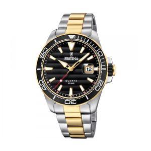 腕時計 ウォッチ ステンレススチールfestina reloj hombre f203622 acero inoxidable bicolor 10 atm con fecha lupa