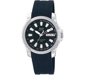 【送料無料】腕時計 ウォッチ スポーツウォッチqamp;q a166302y para hombre vestido sport reloj da fecha resistente al agua reloj pulsera nuevo