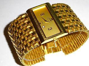 【送料無料】腕時計 ウォッチ バシャルゴールデントーンアラームfortunes bashar tono dorado hombre ancho reloj 4983g m