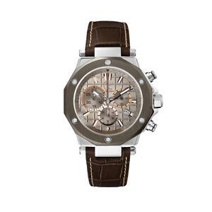 腕時計 ウォッチ ペレクロノグラフヌオーヴォguess orologio uomo x72026g1s marrone cronografo originale nuovo quarzo in pelle