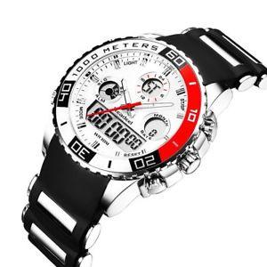 【送料無料】腕時計 ウォッチ ゴムデジタルスポーツミリタリークオーツデュアルスクリーンreloj de pulsera relojes para hombre de goma led digital cuarzo militar deportivo pantalla dua